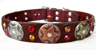 CCC Western Leather Dog Collars - Hidalgo Star