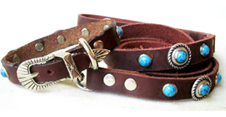 CCC Western Leather Dog Collars - Speedy Bezel Dazzle Set