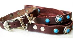 CCC Western Leather Dog Collars - Speedy Bezel Dazzle Set