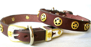 CCC Western Leather Dog Collars - Speedy Walker Jr