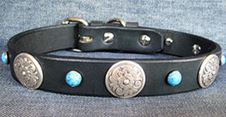CCC Western Leather Dog Collars - Zorro