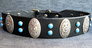 Leather Dog Collars at CCC - Zorro Designer Collection 175