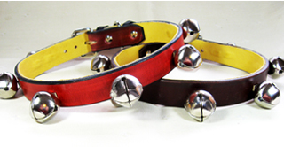 CCC Western Leather Dog Collars - Sleigh Bells Ring