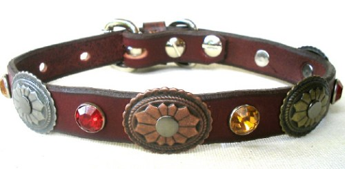 CCC Western Leather Dog Collars - Hidalgo