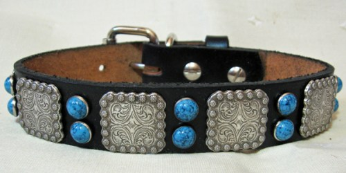 Leather Dog Collars at CCC Berry Bow Wow 1.0-turqs