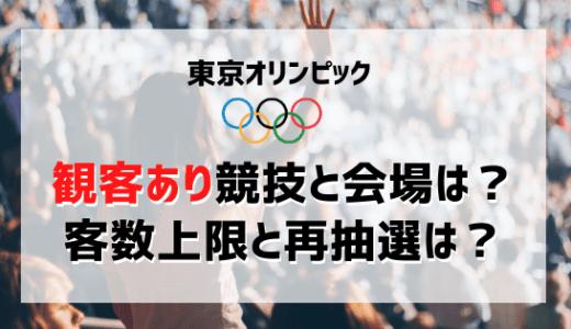 オリンピック(東京五輪)の観客あり競技と会場は?客数上限と再抽選は?