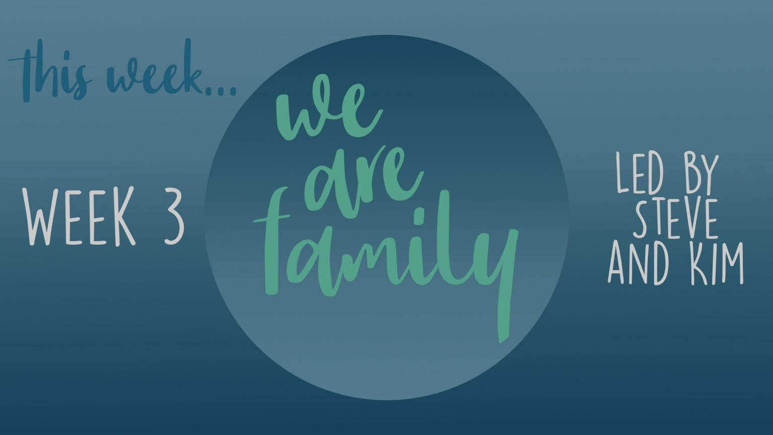 Wk 3 We are family This Wk