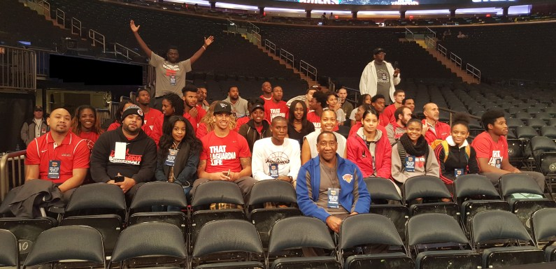 Sports mentoring with the New York Knicks