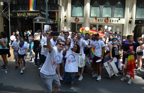 SUNY student leaders march in NYC Pride Parade