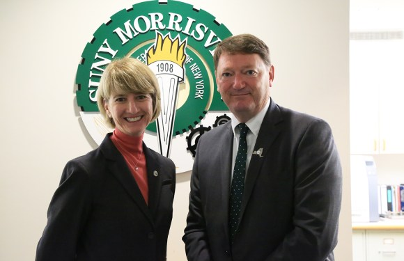 New SUNY chancellor visits SUNY Morrisville