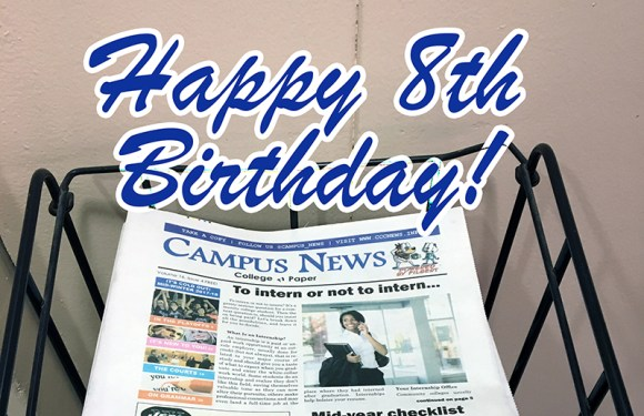 Happy 8th birthday, Campus News!