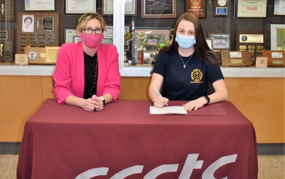 CCCTC Senior, Carleigh Dixon, Signs Letter of Intent during Career & Technical Letter of Intent Virtual Signing Day