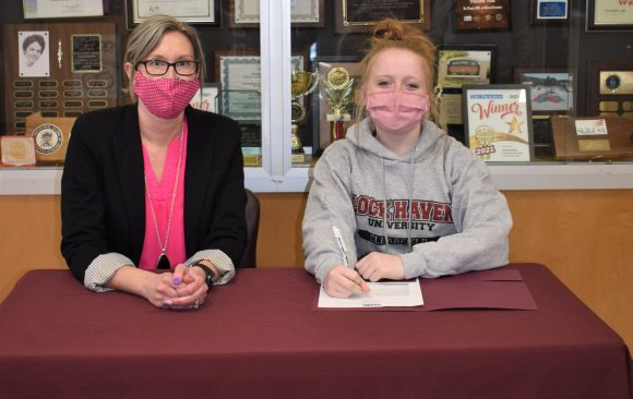CCCTC Senior, Ryanne Henschel, Signs Letter of Intent during Career & Technical Letter of Intent Virtual Signing Day