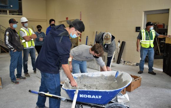 CCCTC Masonry Students Learn Wall Preparation & Applying Stone