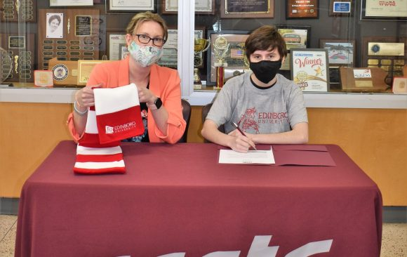 CCCTC Senior, Finneas Louis Reams, Signs Letter of Intent during Career & Technical Letter of Intent Virtual Signing Day