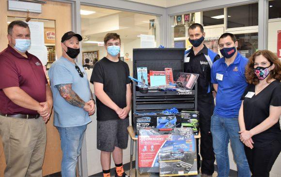 Local Businesses Reward Outstanding Automotive Mechanics Student, Nolan Passmore