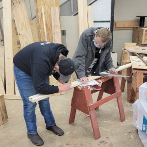 CCCTC Carpentry & Building Construction Students Learning Basics in the Program