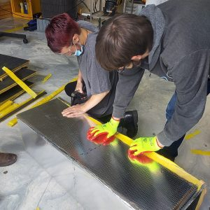 CCCTC HVAC/R Students Learning to Fabricate Fiber Duct