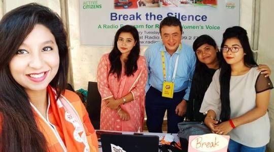 Deputy Director of British Council Bangladesh Andrew Newton has visited stall of Radio Padma 99.2FM