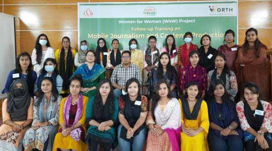 'Follow-up Training on Mobile Journalism and Contents Production' are completed