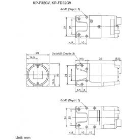 Hitachi KP-F32GV 1/3 inch GigE VGA Monochrome CCD Camera