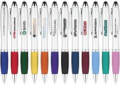 PB2571 Curvaceous Ballpoint Stylus Pen