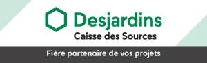 Bannière Partenaire Caisse Desjardins des Sources