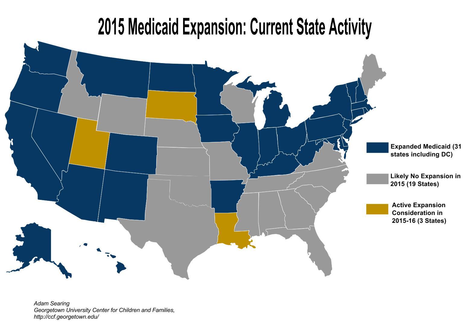 Children Without Medicaid Ny Medicaid Eligibility System Medicaid  Expansion Progress Map (1)