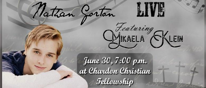 Concert: Nathan Gorton 2017, featuring Mikaela Klein