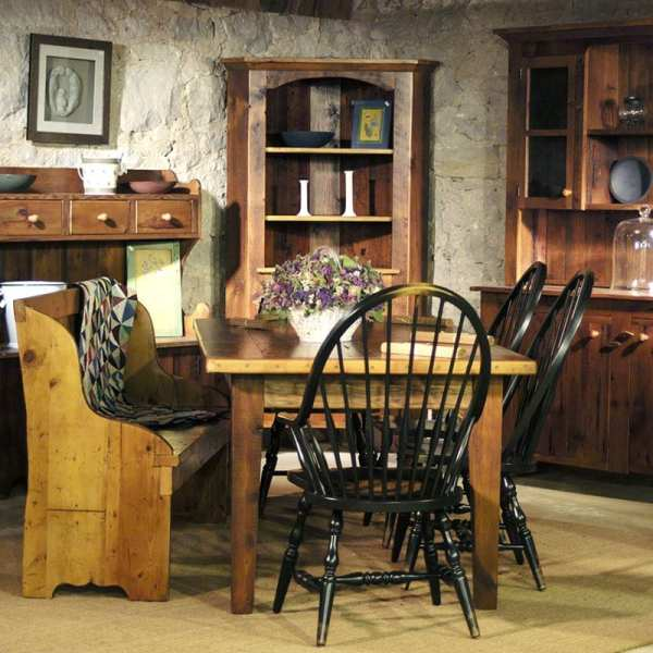 Thick Top Farm Table Dining Suite with Crawford Chairs
