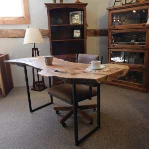 Live-Edge Office Desk