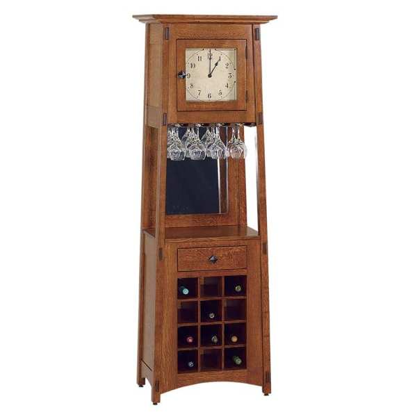 McCoy Wine Rack Clock