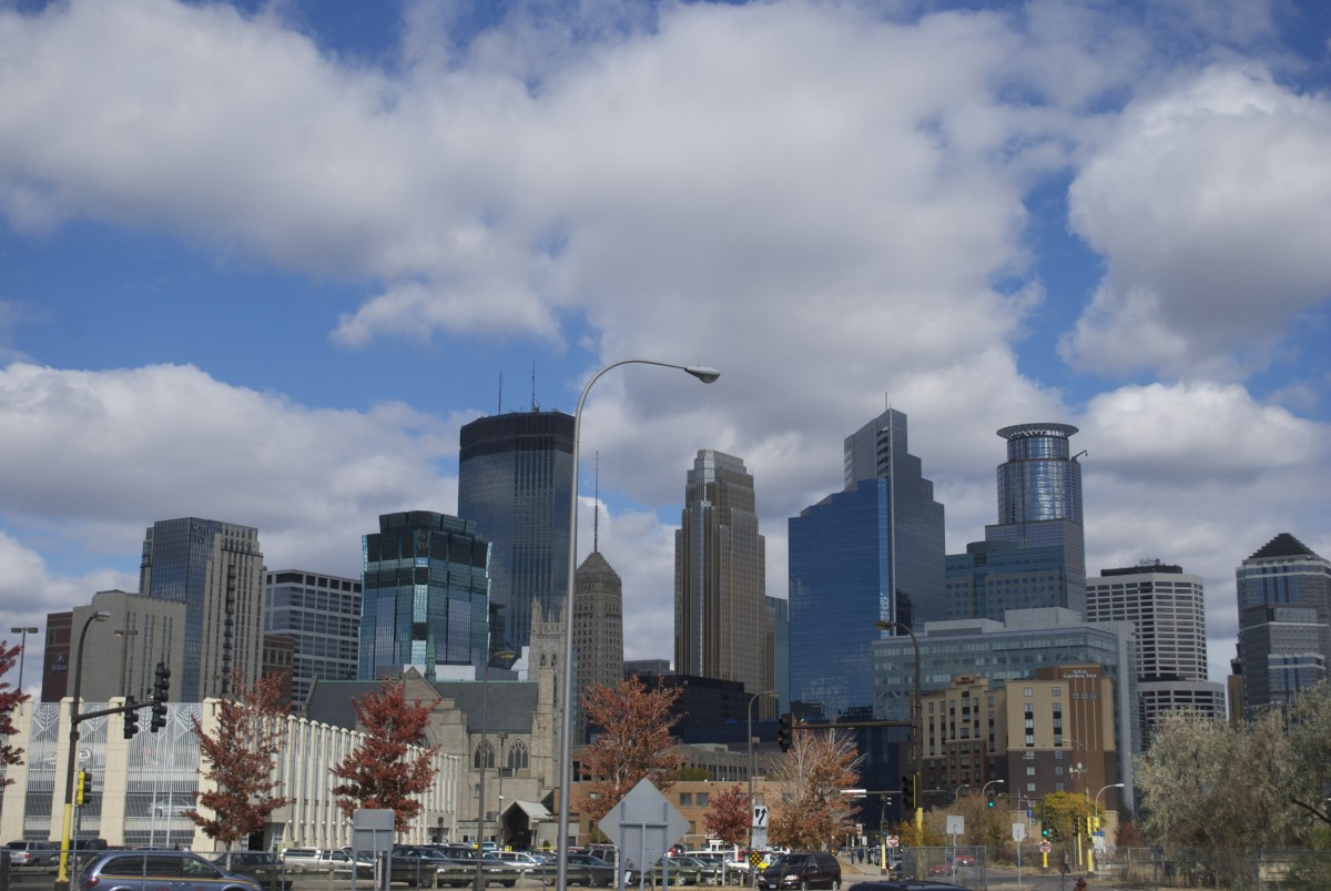 Photo of the skyline of downtown Minneapolis, Minnesota