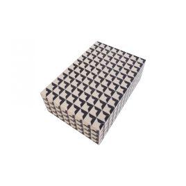 Black & White Resin Retangular Box