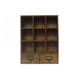 Small wooden drawer storage(9 drawers)