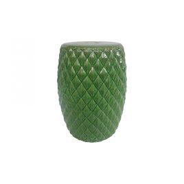 Green Diamonds Ceramic Garden Stool