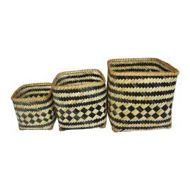 Monochrome Bamboo Basket (Set of 3)