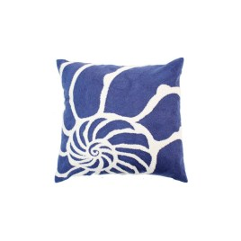 Navy Blue Nautilus Pillow
