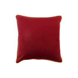 Berry Red Velvet Throw Pillow
