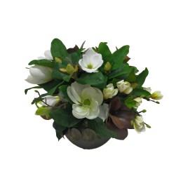 Magnolia With Metal Planter S