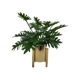 Philodendron Artificial Plant in Gold Planter