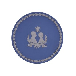 Wedgewood Blue Jasperware Display Plate (1981 Royal Wedding Prince of Wales & Lady Diana)