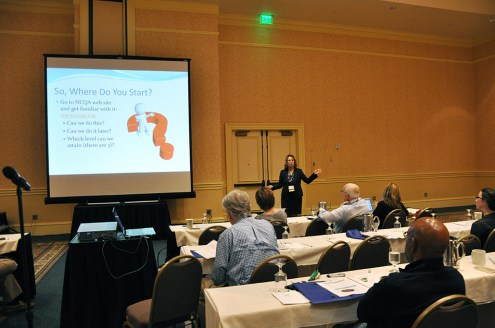 Dr. Jane Weida, past president of the American Academy of Family Physicians Foundation and associate residency director for the College, outlined the steps to transform a practice into a Patient-Centered Medical Home.