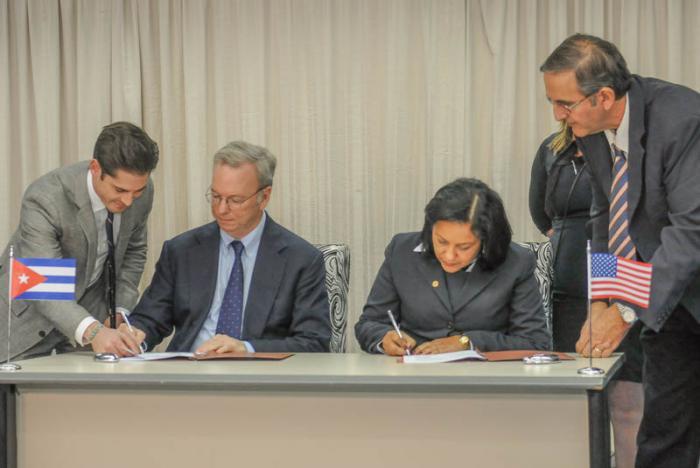 Google signe un accord avec ETECSA