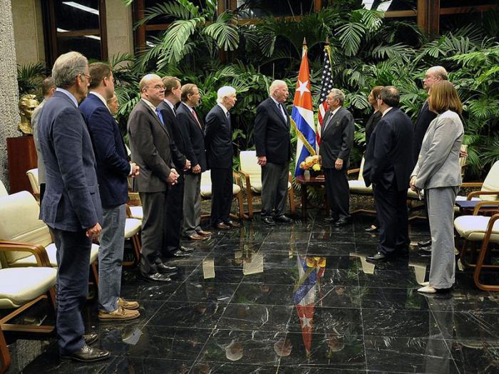 Recibió Raúl a delegación del Congreso de los Estados Unidos