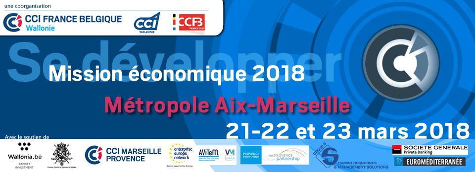 Se développer - Mission économique - Aix - Marseille Métropole - 21, 22 et 23 mars 2018
