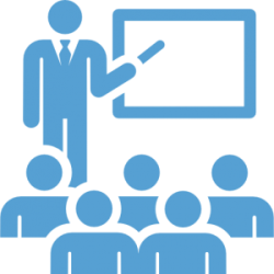 faculty icon classroom class teacher teaching user guide information portal showing