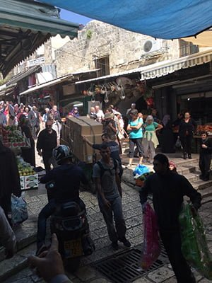 Old Jerusalem market (photo by Traci Blackmon)