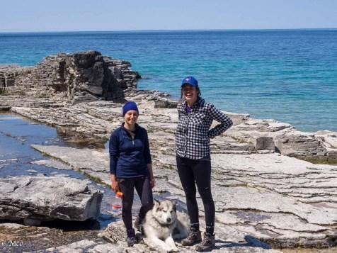 Hiking ladies and 'Hudson'