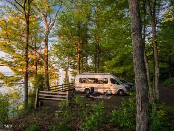 Campsite overlooking Lake Superior